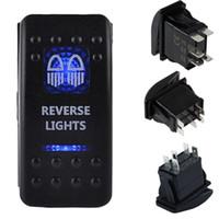 Wholesale Blue LED Rocker Switch Rear Light Waterproof pin dual in blue light ON OFF Rocker Switch