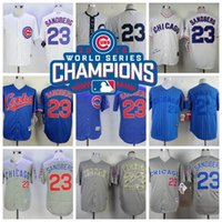 best wines world - 2016 World Series Champions Patch Ryne Sandberg Chicago Cubs Throwback Best quality Baseball Jerseys mixed style