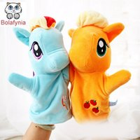 baby horse games - Children Stuffed Toy Horse Games Puzzle cartoon animals hand puppet kid baby toys birthday gift