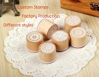 Wholesale custom made transparent stamps customized wood stamps different styles cartoon art LOGO customization