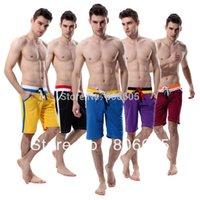 achat en gros de moyen de séchage rapide-Vente en gros Hommes chaudes Trainer Medium Long Shorts Trunks pour hommes Mesh Quick-Dry Double Draw Chaîne Fashion 6 couleurs 7112