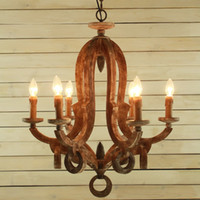 american lighting industry - American country style retro nostalgia restaurant industry bar pendant lamp rotten wood living room European style chandelier LLFA