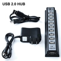 Wholesale New Ports USB HUB Mbps Hi Speed Extension Adapter Cable For Keyborard PC Laptop with Retail Package DHL Free OTH340