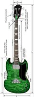 bass pics - Create a electric bass string in green same in pics