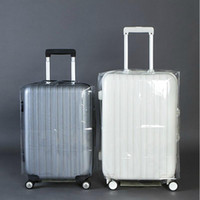Wholesale PVC Transparent Waterproof Luggage Protective Cover Travel Trolley Suitcase Dust Bags Case Accessories Supplies Products