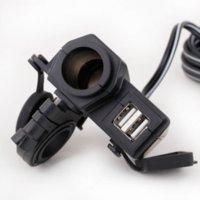 Wholesale KKmoon Universal Motorcycle GPS Sat Nav Phone Dual USB Charger Power Adapter Socket Waterproof car modification accessories