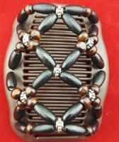 Wholesale 20pcs Black Brown wooden beads magic comb special christmas classical comb lady brithday Mouther s Day gifts