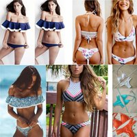 Wholesale new arrivals fashion hot sale sexy hollow out multi Triangle two pieces Swimsuit lady sexy Swimsuit bra Bikini