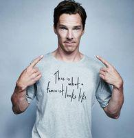 benedict cumberbatch shirt - Men s T Shirts Benedict Cumberbatch men t shirt This Is What a Feminist Looks Like print summer cotton men t shirt hip hop style tees