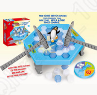 Wholesale Ice Breaking Table Game Penguin Trap Save The Bee Activity Children Kids Family Game Buidling Blocks Toy LJJO1169