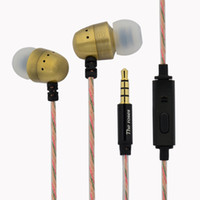 MP3/MP4 ancient metal - Restoring ancient ways is pure copper MP3 phone earplugs in ear heavy bass metal headsets