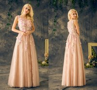 Real Photos baby hand photo - 2017 Real Romantic Baby Pink Wedding Dresses Round Neck Sleeveless A Line Long Floor Length With Handmade Flower Plus Size Bridal Gowns
