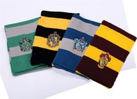 Wholesale Harry Potter Badge Caps scarf set Gryffindor Skull School Striped Beanie Slytherin Hufflepuff Knit Hats Cosplay Costume Caps Christmas Gift