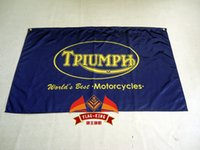 Wholesale Triumph Motorcycles Flag x ft Polyester X150 CM flag king green Triumph banner