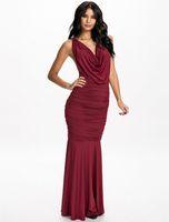 Wholesale Slim size metal sling deep V collar flounced skirt dress catwalk party Package hip fold Temperament dress