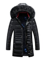 Wholesale Mens Long winter jacket men white down jacket male coat High quality brand clothing keep warm windproof parka for man