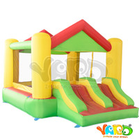 air jump kids - Hot Sale Area Giant Air Toy Inflatable Bouncer Dual Slide Jumping Castle Funny Bouncy Jumper For Kids