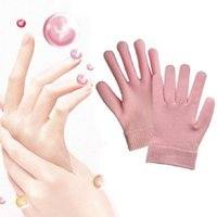 Wholesale Spa Moisturising Gel Pink Gloves Dry Hand Care Therapy Skin Soften Repair