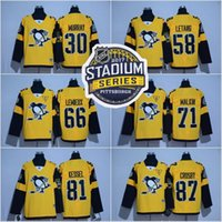 Wholesale 2017 Stadium Series Hockey Jersey Men s Pittsburgh Penguins Phil Kessel Sidney Crosby Matt Murray Kris Letang Evgeni Malkin