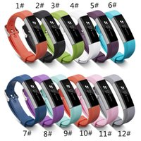 Wholesale Hot Sales Silicone Replacement Straps Band For Fitbit Alta Watch Intelligent Neutral Classic Bracelet Wrist Strap Band With needle Clasp