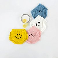 Summer Baby Underwear New Cartoon All-match Boys PP Pantalons Mode visage souriant Bear Panda Printed Infant Shorts Newborn Thong C1212
