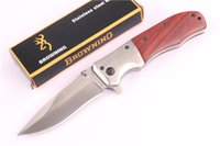 ads tactical - AD Browning Folding Blade Knife Cr13Mov Blade Rosewood Handle Pocket Survival Tactical Knife Outdoor Camping Knife EDC Tools
