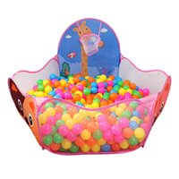 Wholesale Portable Cute Hexagon Polka Dot Kids Playpen Ball Pit Indoor and Outdoor Easy Folding Play Tent House with Tote Bag Pink