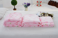 baby washing powder - Super soft cute rabbit flannel blanket double strawberry powder air conditioning blanket Blanket Baby office available