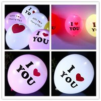 Wholesale Hot sell I LOVE YOU LED Light Balloon For Wedding Celebration Party Bar Decoration Light Up balloon flashing balloon