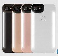 al por mayor maleta lateral iphone-El nuevo teléfono ligero del LED encajona la caja de batería ligera de los lados del teléfono del teléfono para el iphone 7 6 6s más la nota 7 con el paquete al por menor