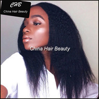 ace wigs - Kinky Straight Brazilian Virgin Human Hair full lace Lace Front Wig Average M size Brown ace Color lFor Black Ladies