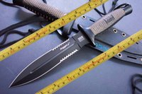 Wholesale Actical knife Sog Daggert Fixed blade knife AUS Steel double edge Serrated rescue knife cutting tool