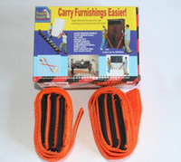 Wholesale 2017 Orange Furniture And Appliance Moving Straps Forearm Delivery Transport Rope Home Belt Carry Furnishings Easier Pac Retail Box
