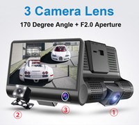 zoom video digital al por mayor-Nuevo 4 '' HD 1080P Car Dvr 3 Camara Lente con vista trasera 4.0 pulgadas Dash Cam Video Recorder 170 grados cámara de visión nocturna registrador