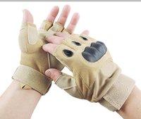 Wholesale Bracers of fitness gloves skidproof Half Finger sports skating male gym exercise barbell dumbbell