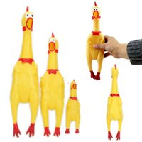 big chicken - Screaming Rubber Yellow Chicken Pet Dog Toy Squeak Squeaker Chew Gift Big Size
