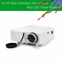 Gaming av supplies - UC HD Lumens Home Mini LED Projector LCD Projector Support AV SD VGA HDMI SD Card Electronic Zoom Vehicle Power Supply