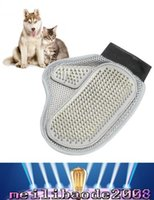 bath cleaner - 2017 NEW Dog Hair And Fur Remover Mitt Cat Bath Wash Grooming Glove Brush Dogs Cleaning Massage Comb For Long Short Pets MYY
