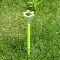 Wholesale Christmas Laser Projector Eclairage Exterieur Mosaic Led Lawn Lamp Solar Powered Border Garden Post Lights Decoration Stake Light Pathway