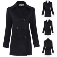 Wholesale Grace Karin High Quality Ladies Winter Double Breasted Classic Wool Blends Trench Coat Turn Down Collar Long Women s Clothing KK000473