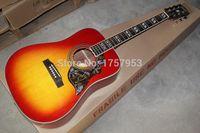 Wholesale new Top Factory custom shop cherry sunburst hummingbird acoustic guitar