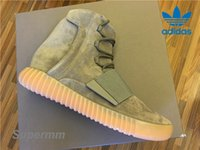 Cheap Adidas Yeezy 750 Boost Light Grey Gum BB1840 Mens Basketball Shoes Women Kanye West Boost 750 Yezzy Shoes Glow In The Dark Yeezys