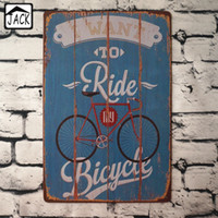 Wholesale I want to ride my bicycle Advertising Plaques Metal Tin Plate Poster X30CM Vintage Tin Signs Bar Club Garage home Wall Decor