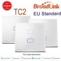 Wholesale Broadlink TC2 EU Standard gang Optional mobile Remote light lamps wall Switch via broadlink rm2 rm pro smart home domotica