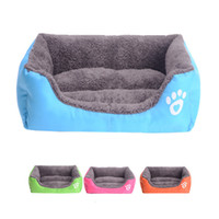 Wholesale Warm Pet bed for Dog Cat House Soft Pet Nest Candy Color Dog Beds for Fall and Winter camas de perros