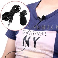 Wholesale 1pcs Newest Portable External mm Hands free Mini Wired Clip on Lapel Lavalier Microphone For PC Laptop