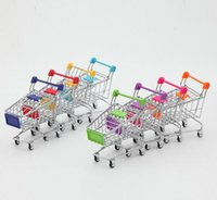 appliance hand cart - Hot Fashion Mini Supermarket Hand Trolleys Creative Toys Gifts Mini Shopping Cart Desktop Decoration Phone Holder Baby Toy New