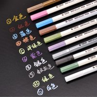 Wholesale colors STA Metallic Marker for Black Paper Creative Highlighters Scrapbooking Tools Stationery Office School Supplies