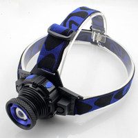 Wholesale Headlamp LED Flashlight Adjustable Degree Headlamp Zoomable Light For Hunting Camping Climbing with Retail Package DHL Free OTH341