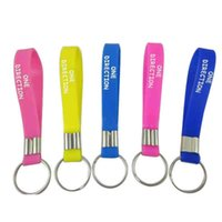 Wholesale FEDEX custom silicone keychain personalized text or logo printed for sports or event